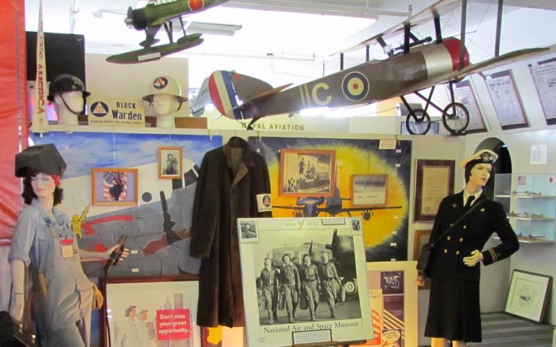 Naval Air Museum display