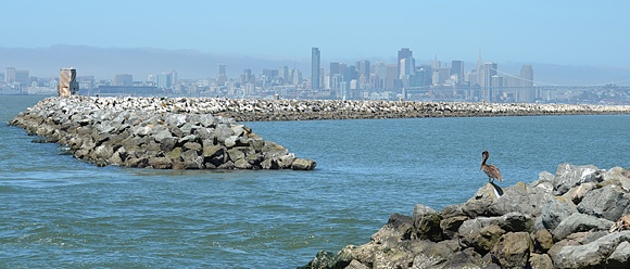 Breakwater Island and Ship Channel at Alameda Point