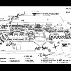1956 Pictoral Map of Naval Air Station.  Source:  National Archives and Records Administration