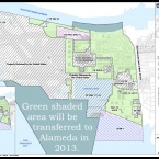 Map of land to be turned over to Alameda in 2013