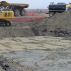 Removing PAH-contaminated soil on old runway on Nature Reserve