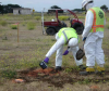 Site 1, Photo #28  Radiological testing. (Navy contractor TetraTech, ECI photo)