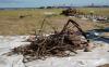 Site 1, Photo #34  Metal debris and radiological concrete survey. (Navy contractor TetraTech, ECI photo)