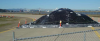 Site 32, Photo #3  Gravel stock pile, March 2008. (Navy contractor TetraTech, ECI photo)