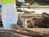 Scanning barge pieces for radium contamination
